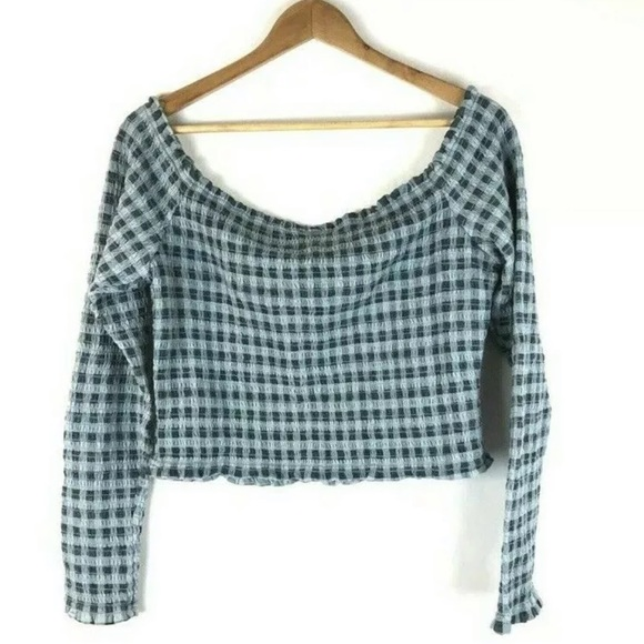 Wild Fable Women/'s Crop Top Long Sleeve Olive Green Sizes L XL